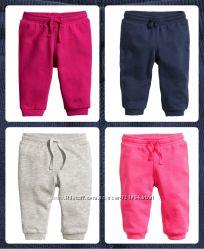 Новые штанишки без начёса H&M р. 4-6, 6-9, 9-12, 12-18мес, 1, 5-2года