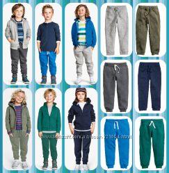 Новые штанишки с начёсом H&M от 1, 5 до 10 лет