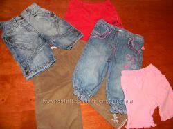 Брючки, джинсы, бриджи, шорты девочке 4-12 мес