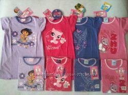 Хлопковые ночнушки или платья для пляжа для девочек 2-4, Англия