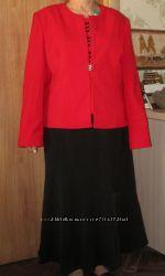 Костюм женский тройка красно-черного цвета  р 52  yimiyi