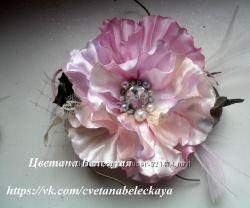 Сделаю под заказ авторские цветы и украшения с ними под ваш наряд