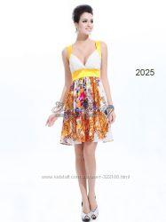 Стильное жёлтое платье
