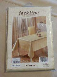 Скатерть Jackline 160х220 Gold Золотая, новая, с люрексом