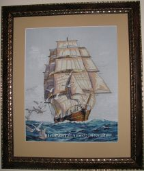 Картина вышитая Морская прогулка