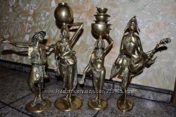 Коллекция эксклюзивных африканских статуэток ручной работы - латунь