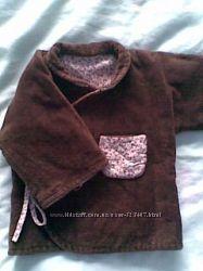Продам вельветовый коричневый халат на хб подкладке