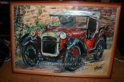 картина Ретро авто 50Х40 см в рамке
