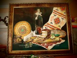 картина украинский натюрморт 40 на 50 см