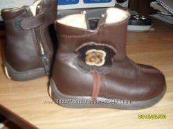 Кожаные сапожки-ботинки, 18 разм.