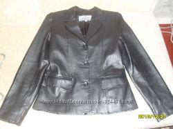 Кожаный стильный пиджак 44-46 размера