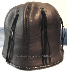 Стильная шляпка для леди из нат. кожи, 57-58р.