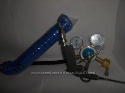 Переходник редуктор  пистолет  шланг для баллона гелия, наполнения шаров