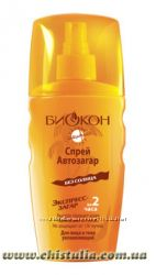 Биокон Солнцезащитная серия Спрей-автозагар для лица и тела Увлажняющий