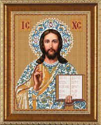 Схема на ткани для вышивки бисером икона Господь Вседержитель