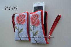 Чехлы на мобильные телефоны. Под вышивку бисером, нитками.