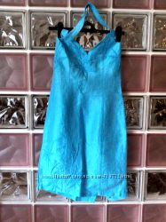 Платье сарафан Ciolla Exclusive бирюзовый с камнями