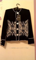 ETINCELLE Etincelle Франция черная кофта пиджак с вышивкой