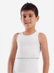 Белые майки и футболки для мальчика. В садик и школу. Фирма OZTAS и ILKE
