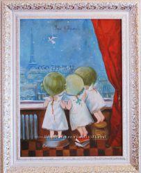 Продам готовую картину Утро в Париже. Копия  Евгении Гапчинской
