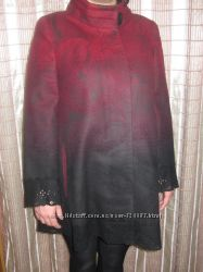 расклешенное пальто с красивым узором