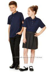 Тёмно-синие футболочки-поло в школу из Англии