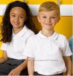 Белые футболки-поло в школу George Англия