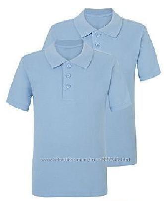 Голубые футболки-поло в школу NutMeg Англия