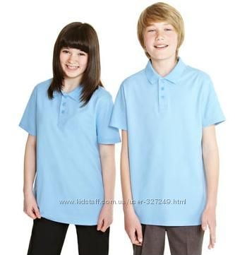 Голубые футболки-поло в школу F&F Англия