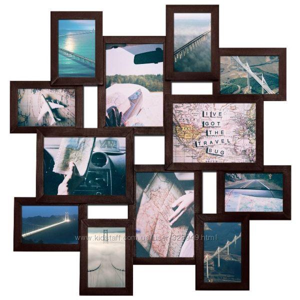 Мультирамка Путешествие на 12 фотографий 10х15 и 15х20 см