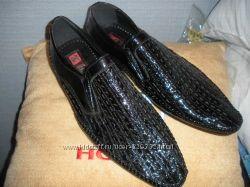 Туфли. черный лак. р41. Италия