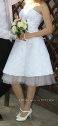 Свадебное платье и туфельки, болеро в подарок