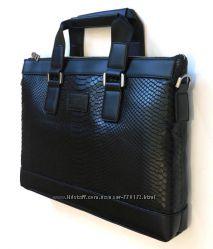 Кожаный портфель Армани