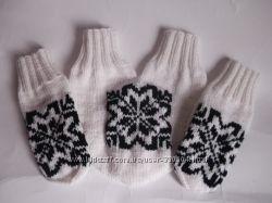 Варежки для влюбленных Снежинка