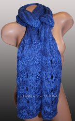 шарф ажурный теплый
