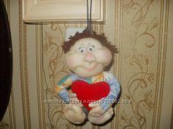 Кукла домовичек с сердцем