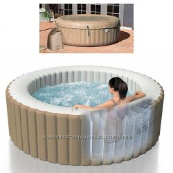 Надувной бассейн джакузи Intex, Bestway. Гидромассаж, нагреватель, тент, насос