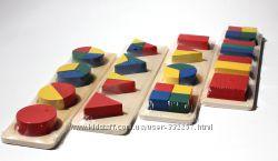 Деревянные развивающие игрушки геометрики
