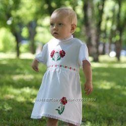 Вышивка на детские сарафаны