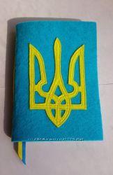 Блокнот Герб Украины. Ручная работа.