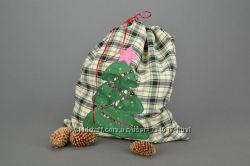 Мешок для подарков ручная работа мешок деда мороза