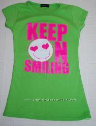 футболка кислотная, 12-15лет