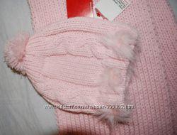 Набор Dominika Польша - шапка и шарф, крупная вязка, мягенькая нить