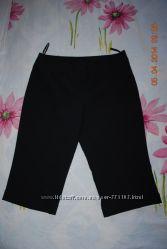 Черные удлиненные шорты -капри, размер М, евро-12, в идеале