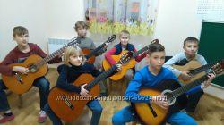 Детская студия гитары Киев, Софиевская Борщаговка, Чайка, Вишневый,