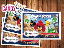 Пригласительные Angry Birds