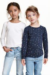 H&M Комплекты регланчиков на девочку 2-8 лет