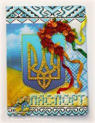 украинские национальные обложки на паспорт на заказ скрапбукинг с объемными