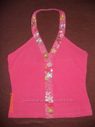 красивая розовая маечка с вышивкой 38 размера