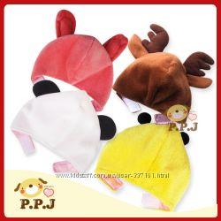 новогодняя карнавальная шапочка-ушки Лосенок, Зайчик для собаки или котика